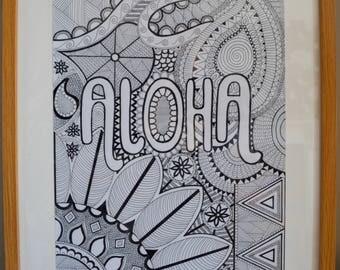 Aloha print; A3, A2 or A1