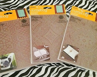 """3 pk Bundle Set by Cricut Cuttlebug - 5 x 7"""" Embossing Templates by Anna Griffin : Set of 3"""