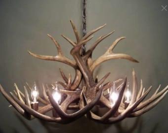 Real Antler Chandelier Rustic Chandelier Deer Chandelier Pendant Antler Lights Rustic Lighting Shabby Chic Lighting Deer Lighting Illinois