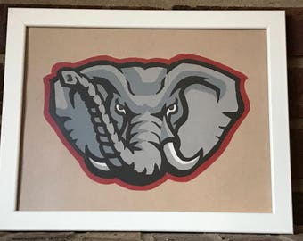 Alabama Crimson Tide Hand Drawn Logo