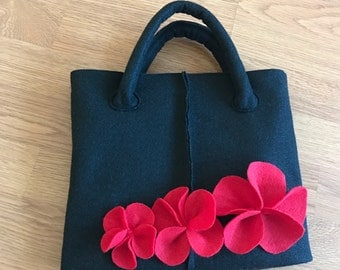 Hand made tote bag, felted tote bag