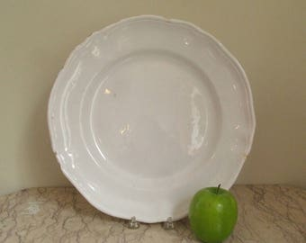 antique French ceramic platter
