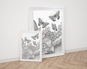 """Poster / post """"Butterflies"""""""