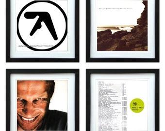 Aphex Twin - Framed Album Art - Set of 4 Images