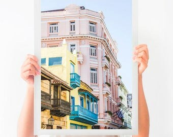 Colorful Wall Art, Cuba Art, Printable Poster, Digital Download, Printable Photography, Printable Art, Havana Print, Instant Download