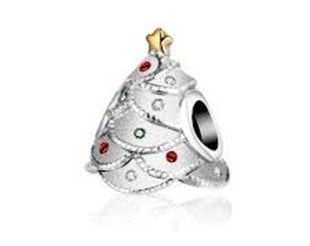 Authentic Pandora Festive Christmas Tree Charm Bead