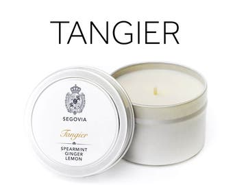 Tangier -  Mint, Basil, Lemon & Ginger Soy Candle 4 oz Tin