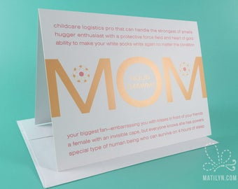 Mother's Day Card | Defining MOM
