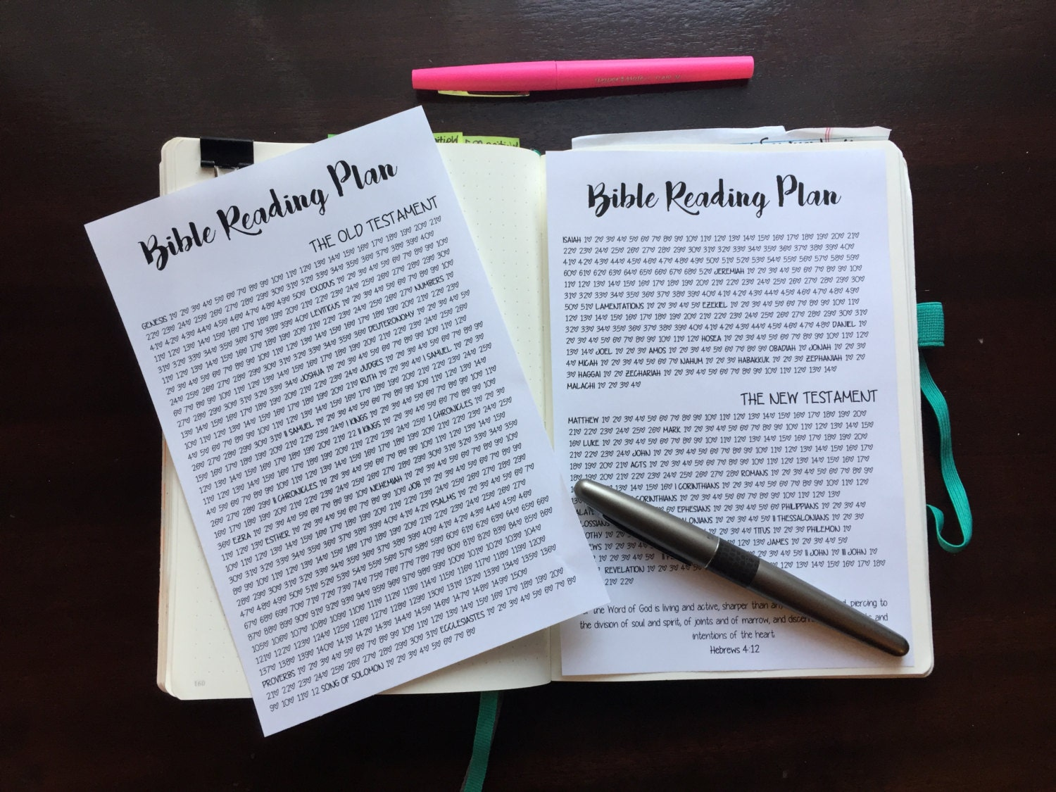 This is a photo of Striking Bible Reading Tracker Printable