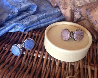 Cuff Links - Paisley Button
