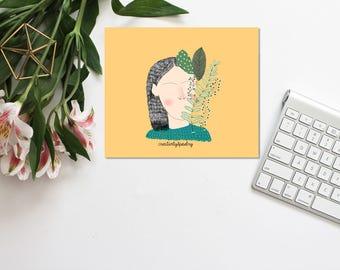 Girl floral illustration