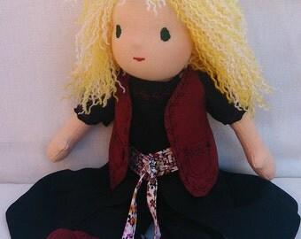 Julia - handmade rag doll