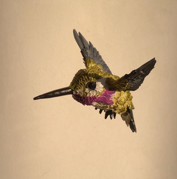 Paper Bird sculpture Bird ornament Christmas ornament Hand