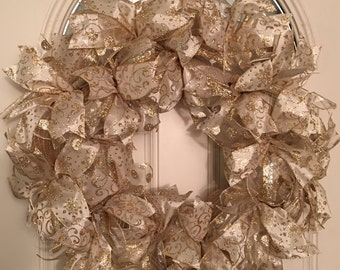Gold Mesh Everyday Wreath