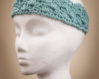Aqua Double Shell Headband