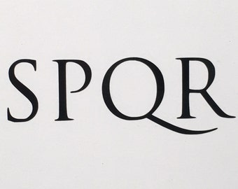 SPQR - Vinyl Decal