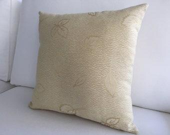 "Light Gold Pillow Cover 16""x16"", Decorative Pillow, Neutral Pillow, Throw Pillow, Modern Pillow, Pillow, Throw Pillow, Cushion, Home Decor"