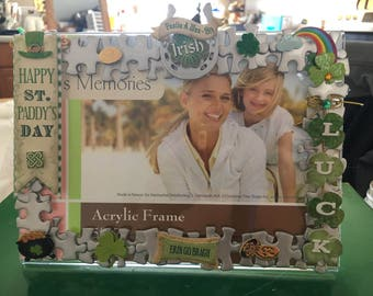 St Patricks day picture frame