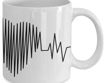 Heart Beat Mug - Heart Mug - Love Mug -