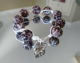 Chunky natural twine knot bracelet