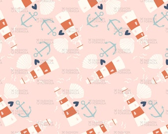 Nautical 3 Fabric by Laura_May_Designs