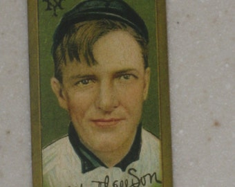 1911 T205 Gold Borders Christy Mathewson Sovereign Cigarettes Back