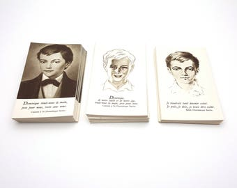 Lot of 204 Saint Dominic Savio French Catholic Prayer Cards Holy Card Mass Cards Vintage Gift for Catholics First Communion Saint Dominique