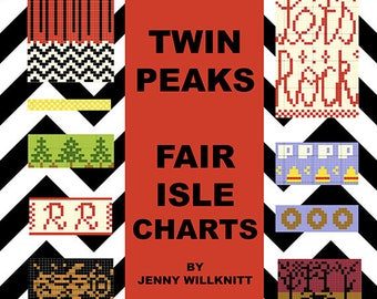 Twin Peaks Fair Isle Knitting Pattern Charts