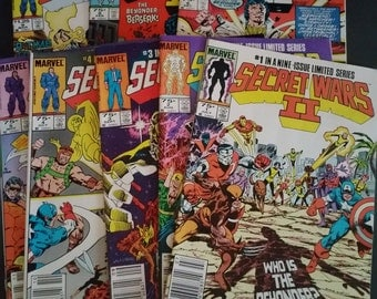 Marvel Comic Secret Wars II 1985-86 Lot of 8
