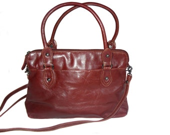 Vintage Czanne Leather women bag brown leather