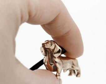 Vakkancs Dachshund bronze keychain (3D)