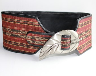 Ikat belt, made of natural fibres, Southeast - Asia 70s