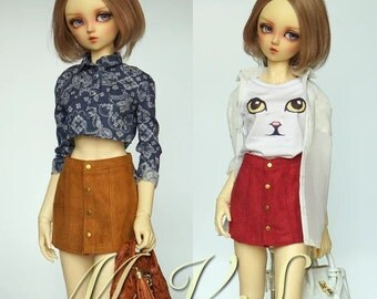 BJD Clothes Micro suede skirt for SD/DD,in 2 colors