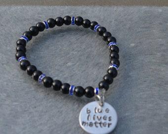 BLUE LIVES MATTER!!!! Causes Bracelets, Thin Blue Line