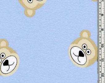Bear Faces on Cotton Rib