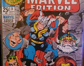 Marvel special edition comic 1971 Thor mint.