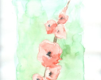 """Gladiolus an original watercolor painting on paper 8 1/2"""" x 11"""""""