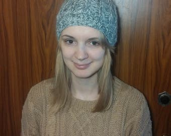 Wool Maher Hat, Hand knitted Wool Hat, Warm, Soft, Women's Hat, Handmade knit hat