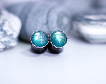 10mm Plugs, Ear Plugs, Jewellery for Stretched Ears, Gauges, Stretched Ears, Earrings, Turquoise Earrings