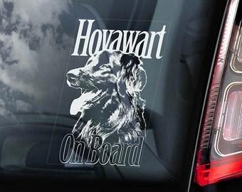 Hovawart on Board - Car Window Sticker - Hovie Dog Sign Decal - V01