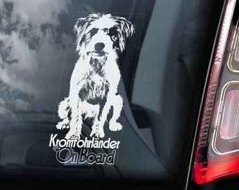 Kromfohrländer on Board - Car Window Sticker - Kromi Länder Dog Sign Decal - V01