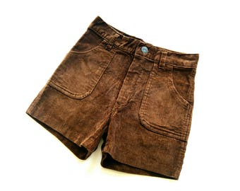 Boys coRd ShoRts 70s trouSerS size 8-9Y RetRo of 70s corduroy pants hipSter 134/140