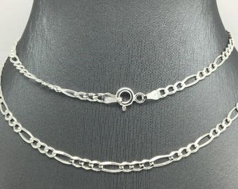 925 Sterling Silver Figaro Chain ~3.00mm