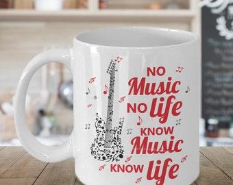 Guitar Mug - Guitar Player Gift - Guitar Gifts - Guitarist Mug - Guitar Lover Coffee Cup - Guitar Gift Ideas - Music Gift - Guitar Art