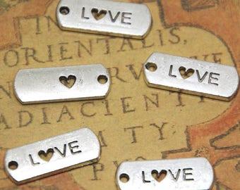 20pcs Love charms silver tone Love Charm Pendant 21x8mm ASD1322
