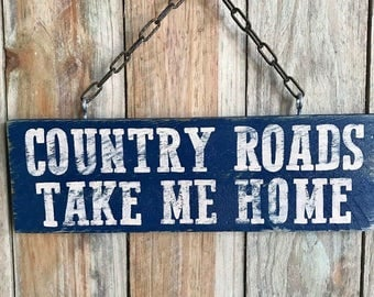 Hanging Country Sign