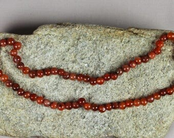 70 African Carnelian Beads 8-10mm, African Beads, Ethnic Beads
