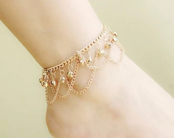 Gold color foot chain