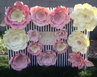 Pretty in pink,paper wall flower backdrop perfect for that special birthday or babyshower.