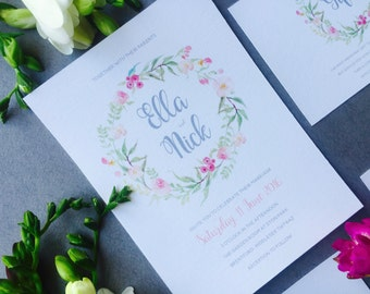 Rustic Floral Engagement Party invitation - Floral Wreath Engagement Invitation - Engagement Invitation